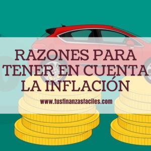 Tener en cuenta la inflación